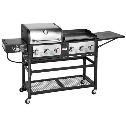 Outdoor Gourmet Pro Triton 7 Burner Propane Grill And Griddle Combo Propane Grill