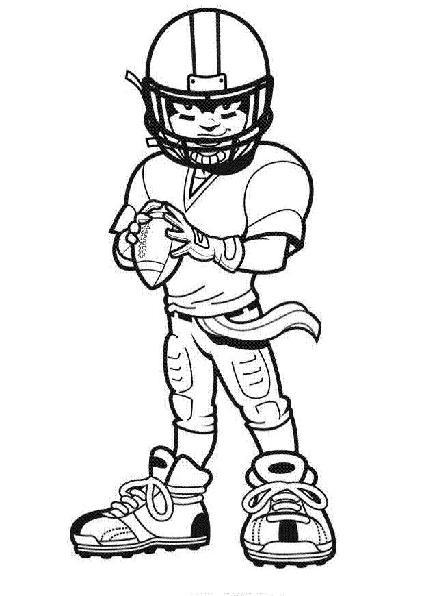 Coloring Pages Of Football Players For Kids
