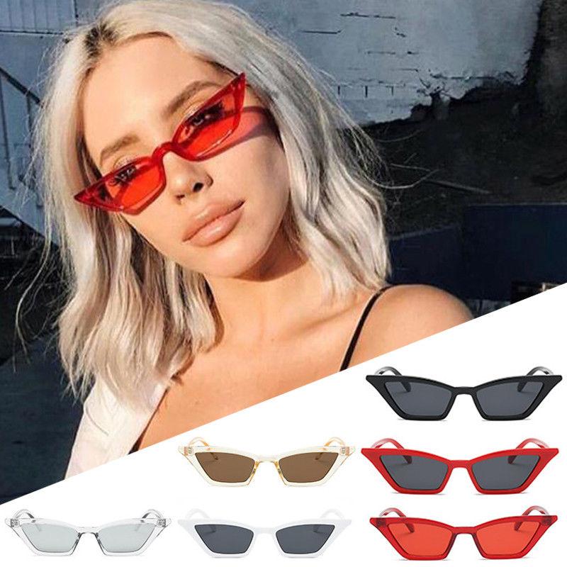 9dbefab6f655 Women Vintage Cat Eye Sunglasses Retro Small Frame Uv400 Eyewear Fashion  Ladies