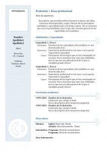 Curriculum Vitae Modelo Funcional 3 Jordan Pinterest