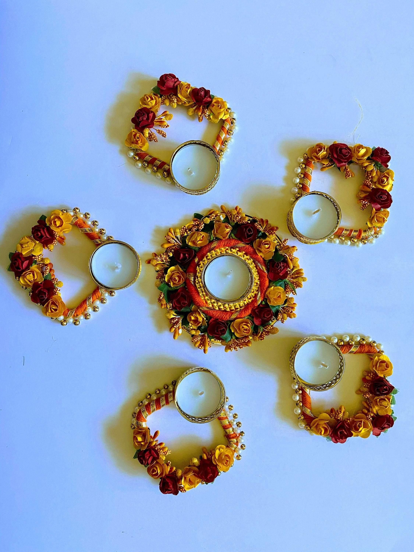 Unique flower candle holder/ Tea light candleholder/ EID Decoration/ Indian Wedding Decoration/ Indian candleholder/ Diwali decoration – pattern 1