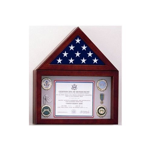 Flag Display Case with a Shadow Box Hand Made By Veterans | Flag ...
