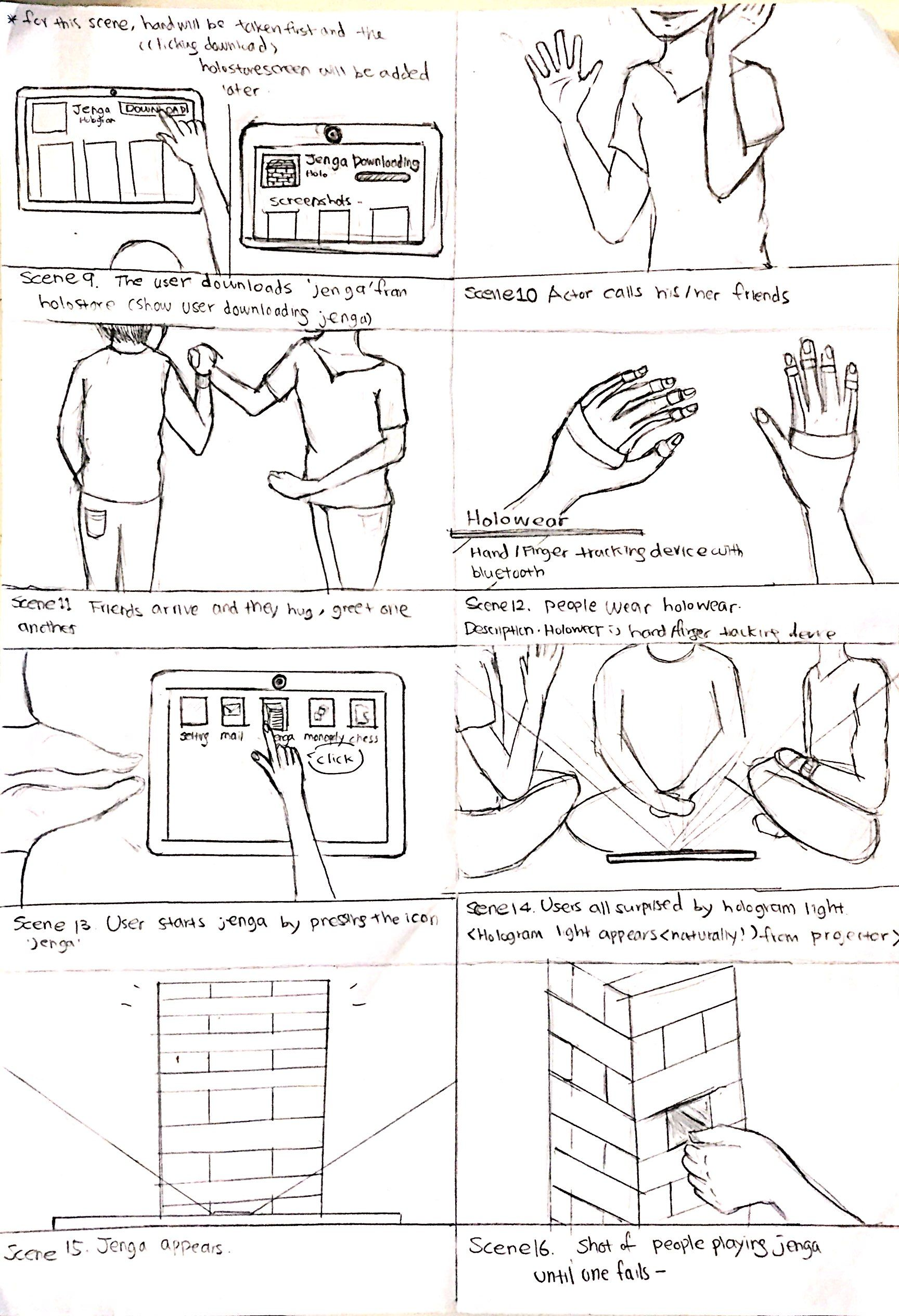 Storyboard For Concept Video Holog