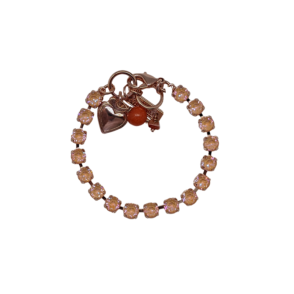 Photo of Petite Everyday Bracelet in Sun-Kissed Peach *Preorder* – Gray Plating