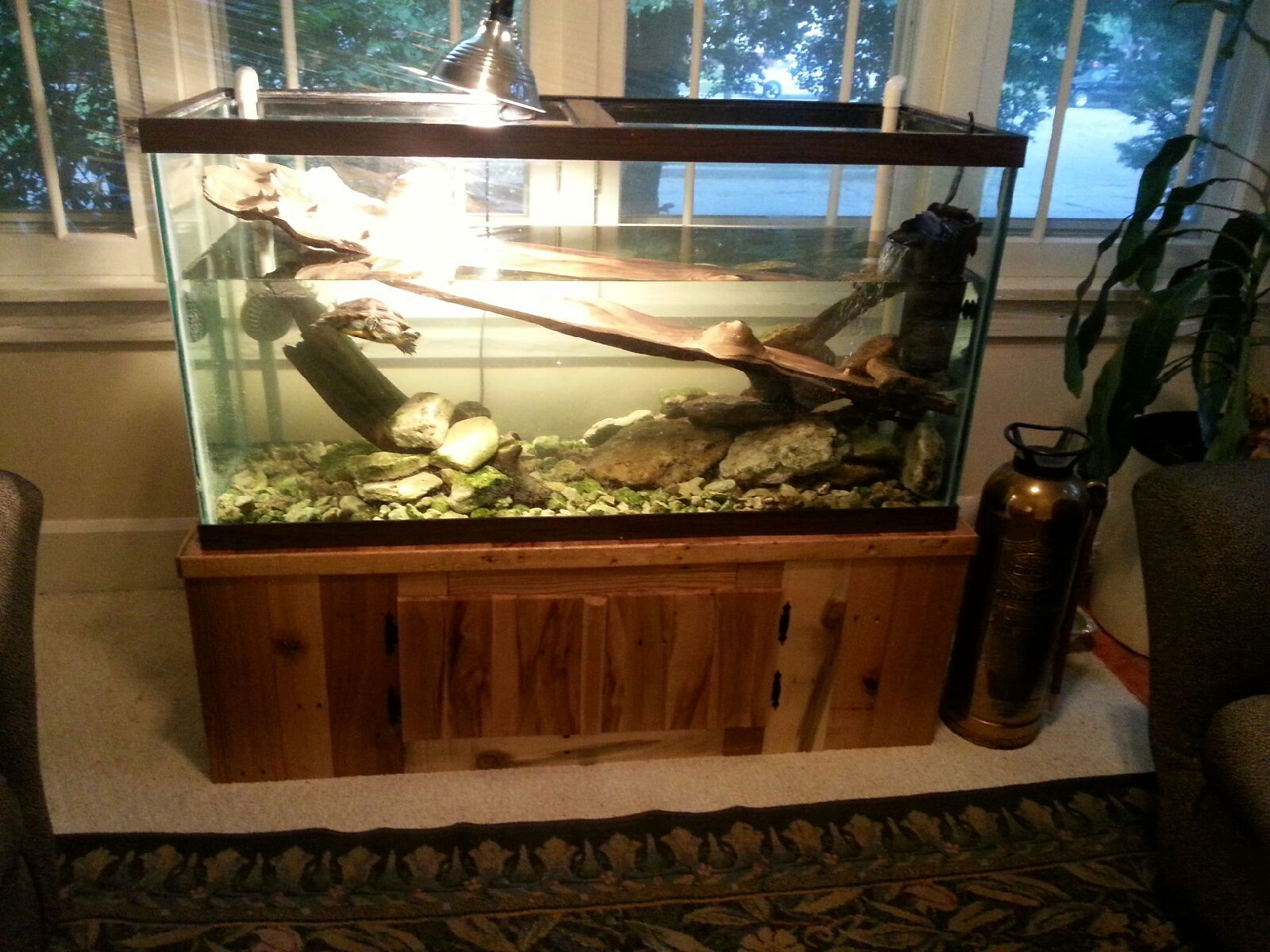 Aquarium stand Made with reclaimed pallet wood