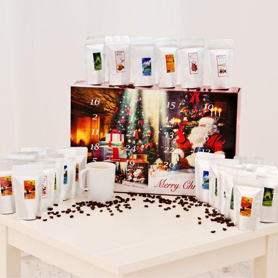 #Kaffee #Adventskalender als gemahlener Kaffee für Filter, Handaufbrühen, Espressokocher und French Press Als Wandkalender zum aufhängen oder zum hinstellen geeignet.