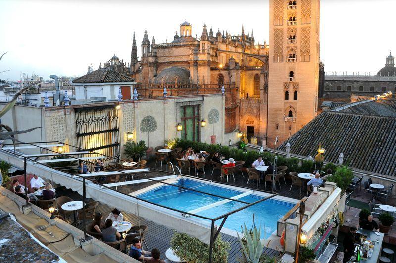 Dona Maria Hotel Roof Terrace In Seville Sevilla