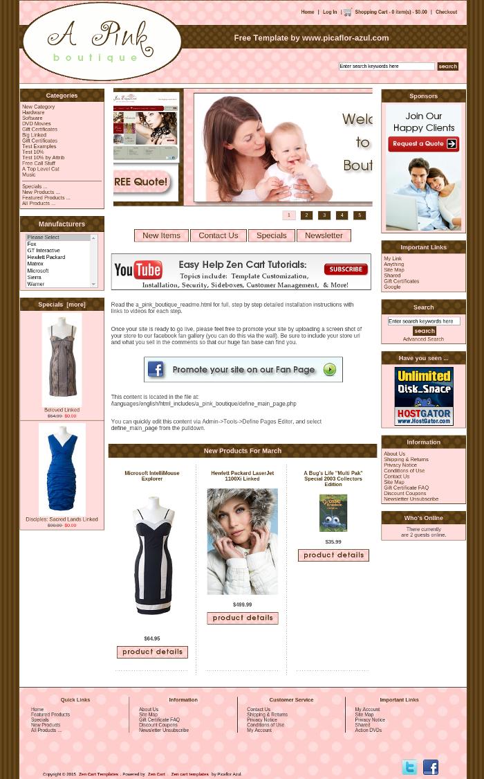Free Responsive Zen Cart templates | Zencart - Plantillas web ...