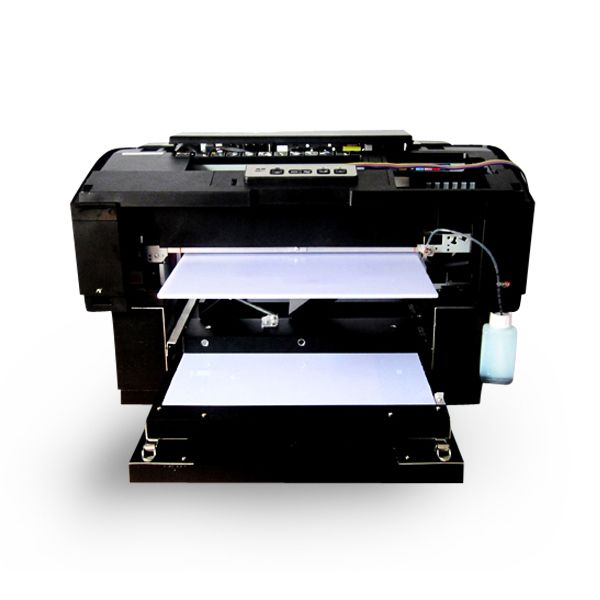 5d722d15 The A3 DTG Flatbed Printer uses water based pigment ink, specially  formulated for direct-to-garment (DTG) printing. The ink actually saturates  into the ...