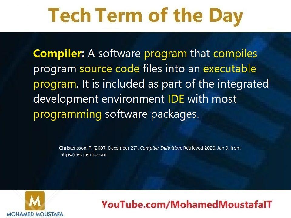 Compiler Programing Software Information Technology Coding