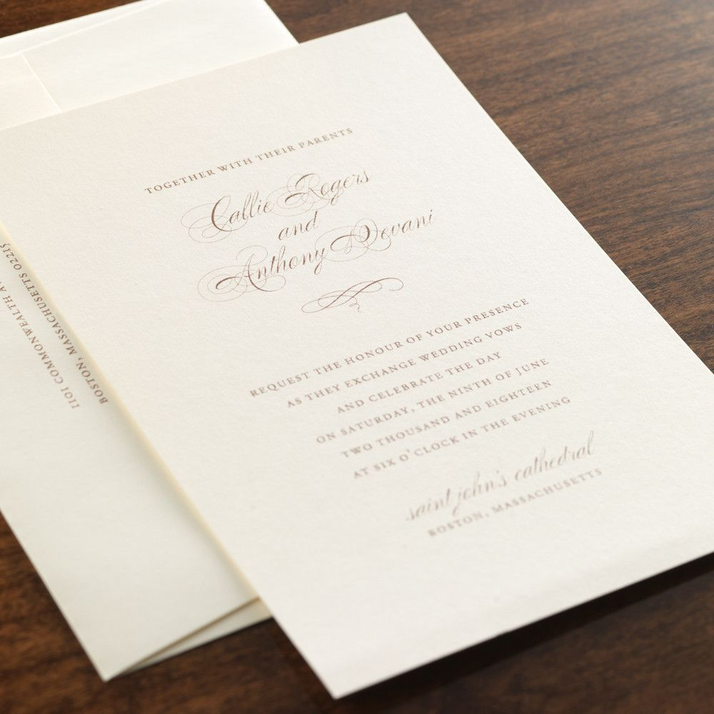 Heritage by Checkerboard - thermography wedding invitation in ...
