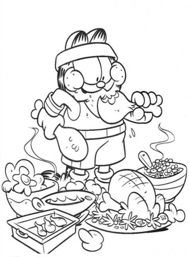 Garfield Junk Food Coloring Pages