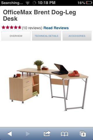Office Furniture Desks Laptop Stands, Dog Leg Desk