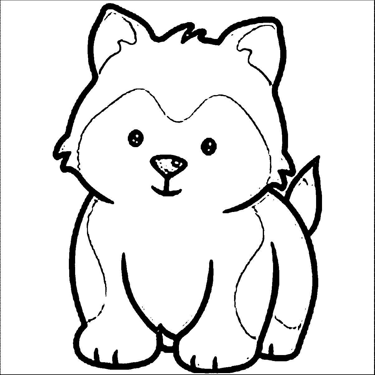 Husky Puppy Coloring Pages Printable Puppy coloring