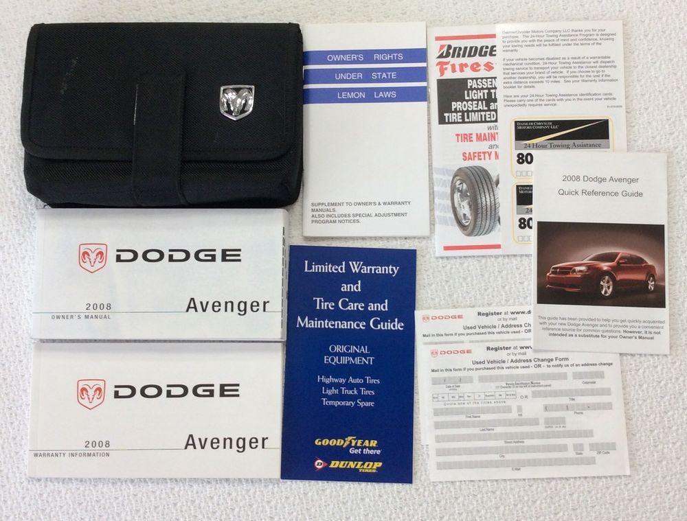 2008 dodge avenger owners manual with case dodge avenger rh pinterest com 2015 Dodge Avenger 2009 Dodge Avenger