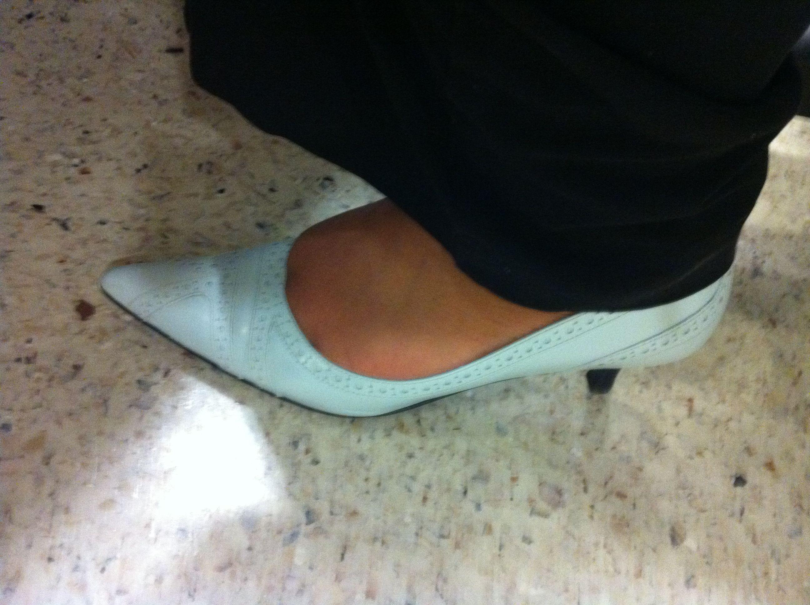 Powder Blue Kitten Heels. So comfy