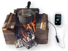 cool! Charge your iPhone by using pan charger with boiling water.