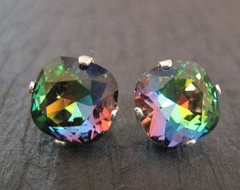 Regenbogen-Ohrstecker Regenbogen Swarovski Crystal von CrystalIcing