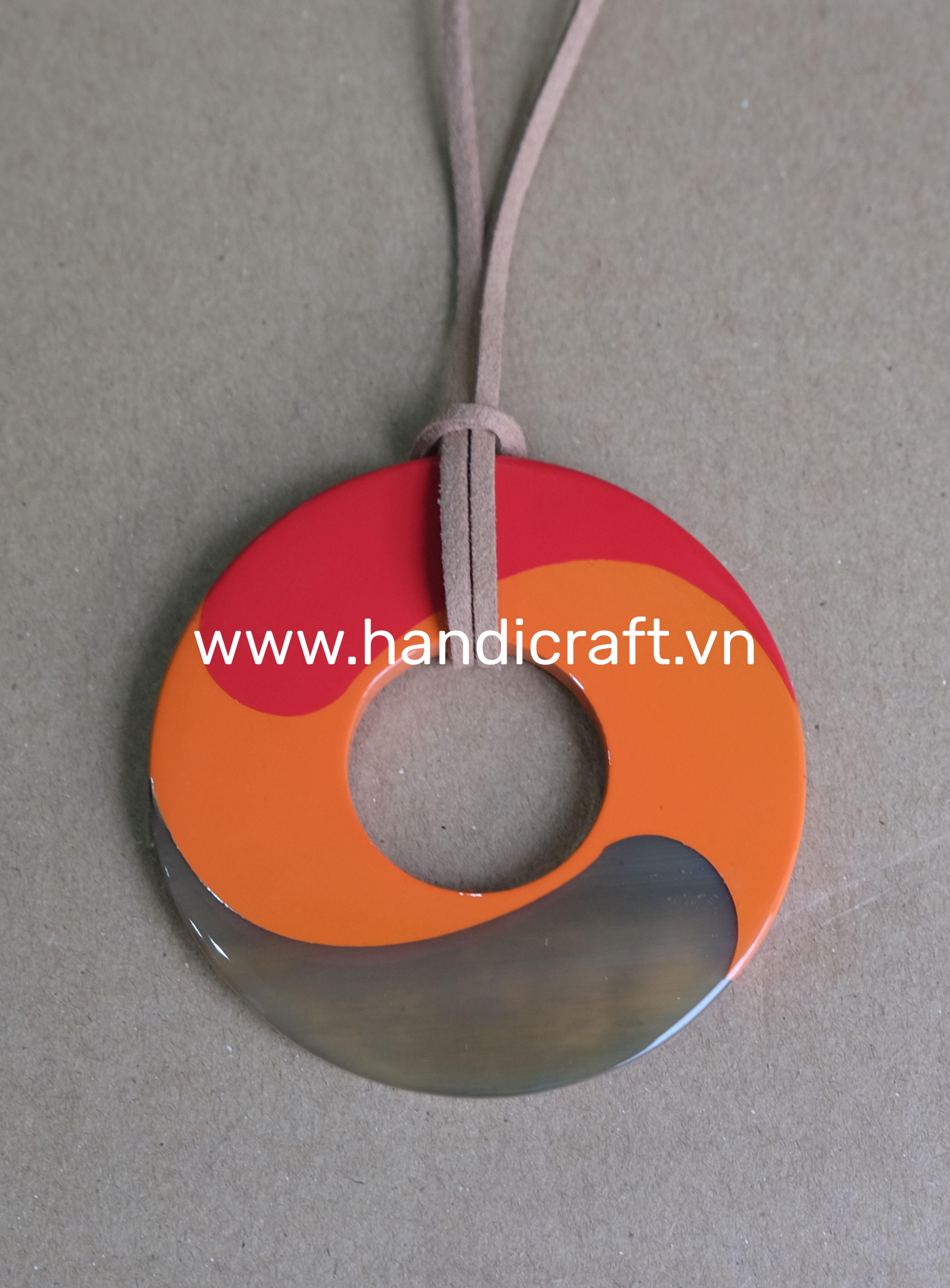Buffalo horn handmade pendant, handmade by skillful