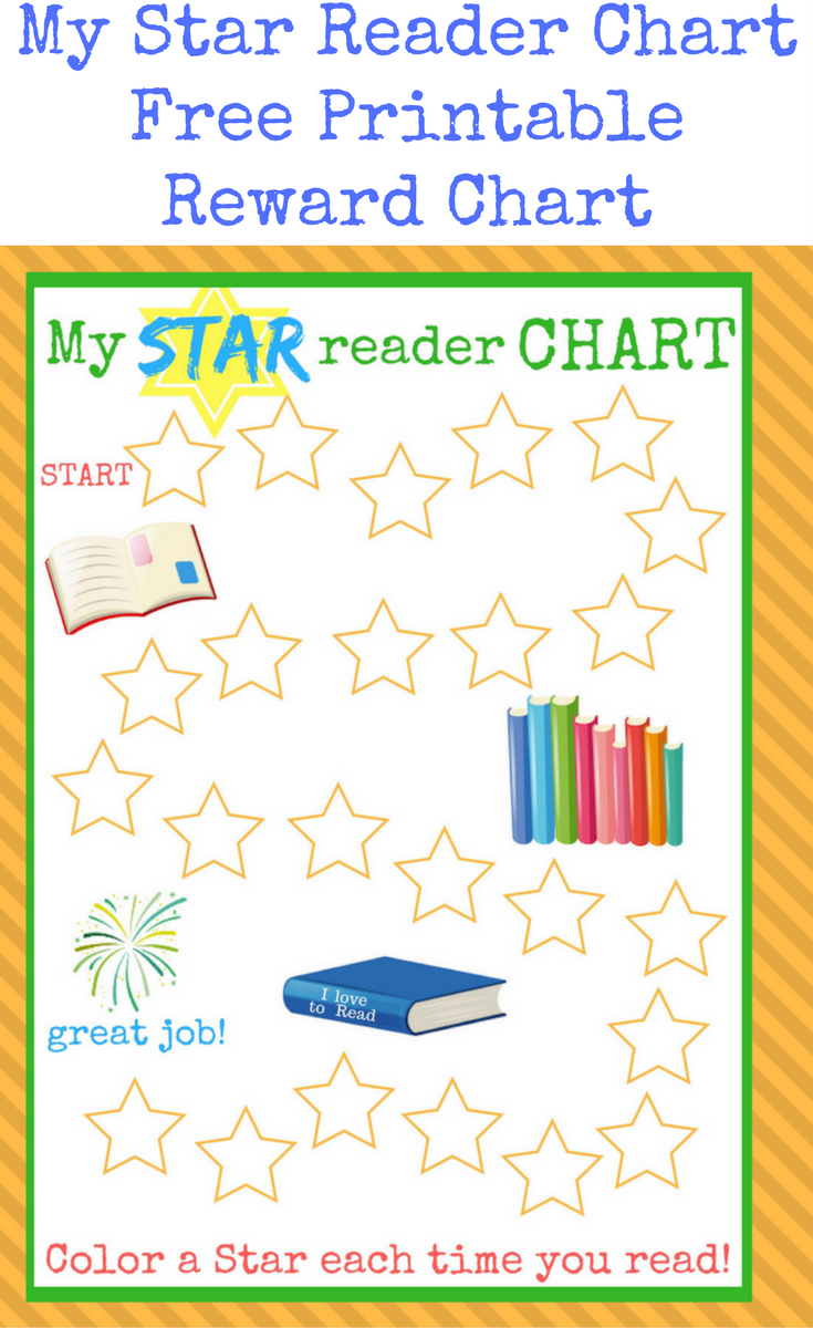 My Star Reader Chart Free Printable Reward Chart Reading Chart Free Printable Star Chart For Reading Reading Rewards Reward Chart Reward Chart Kids