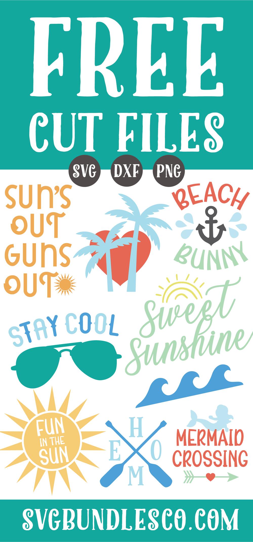 FREE SVG FILES! FREE summer svg files, summer svg, svg