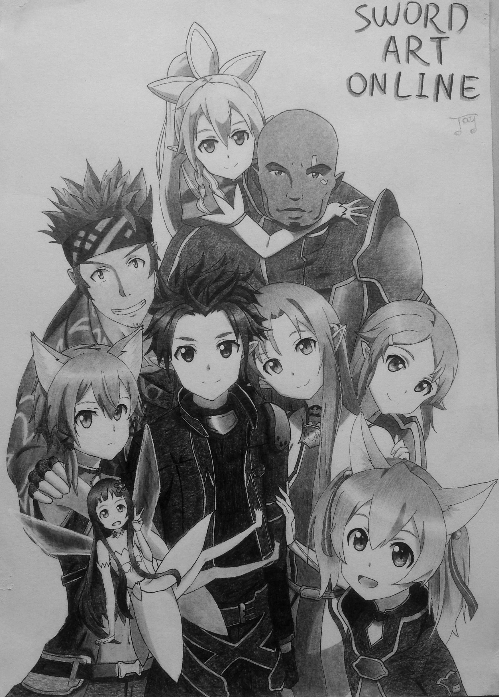 Sword art online pencil drawing