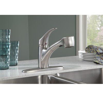 American Standard Edgemere Stainless Steel 1 Handle Pull Out Sink