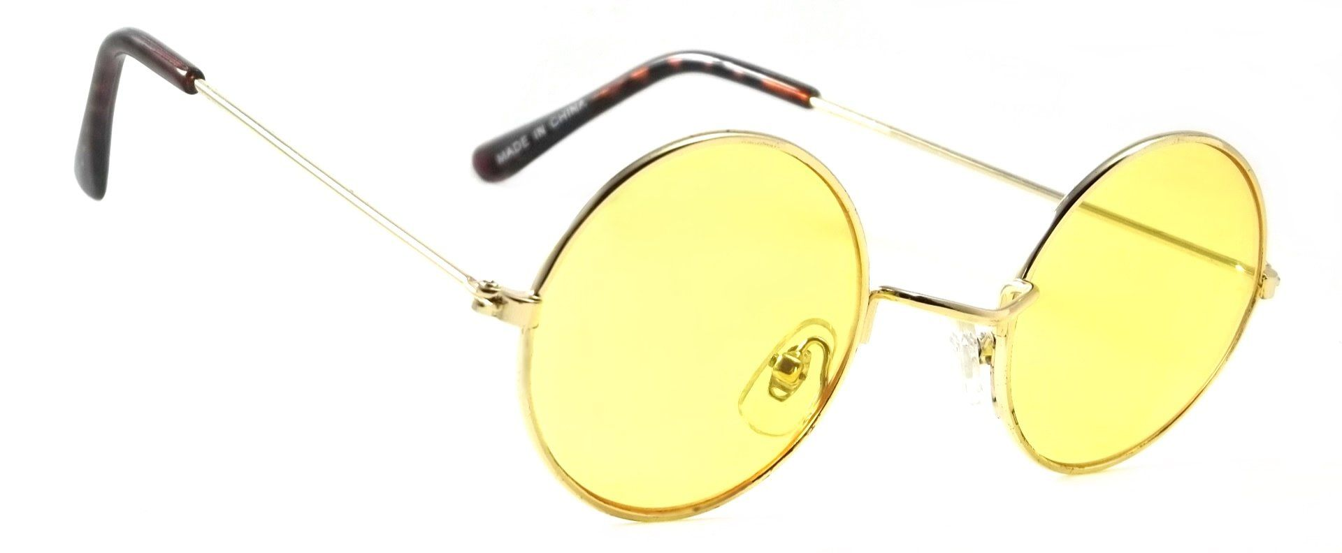 0f7ad6cacc7 Retro Round Hippie Sunglasses Color Lens John Lennon Ozzy Elton Style Shades