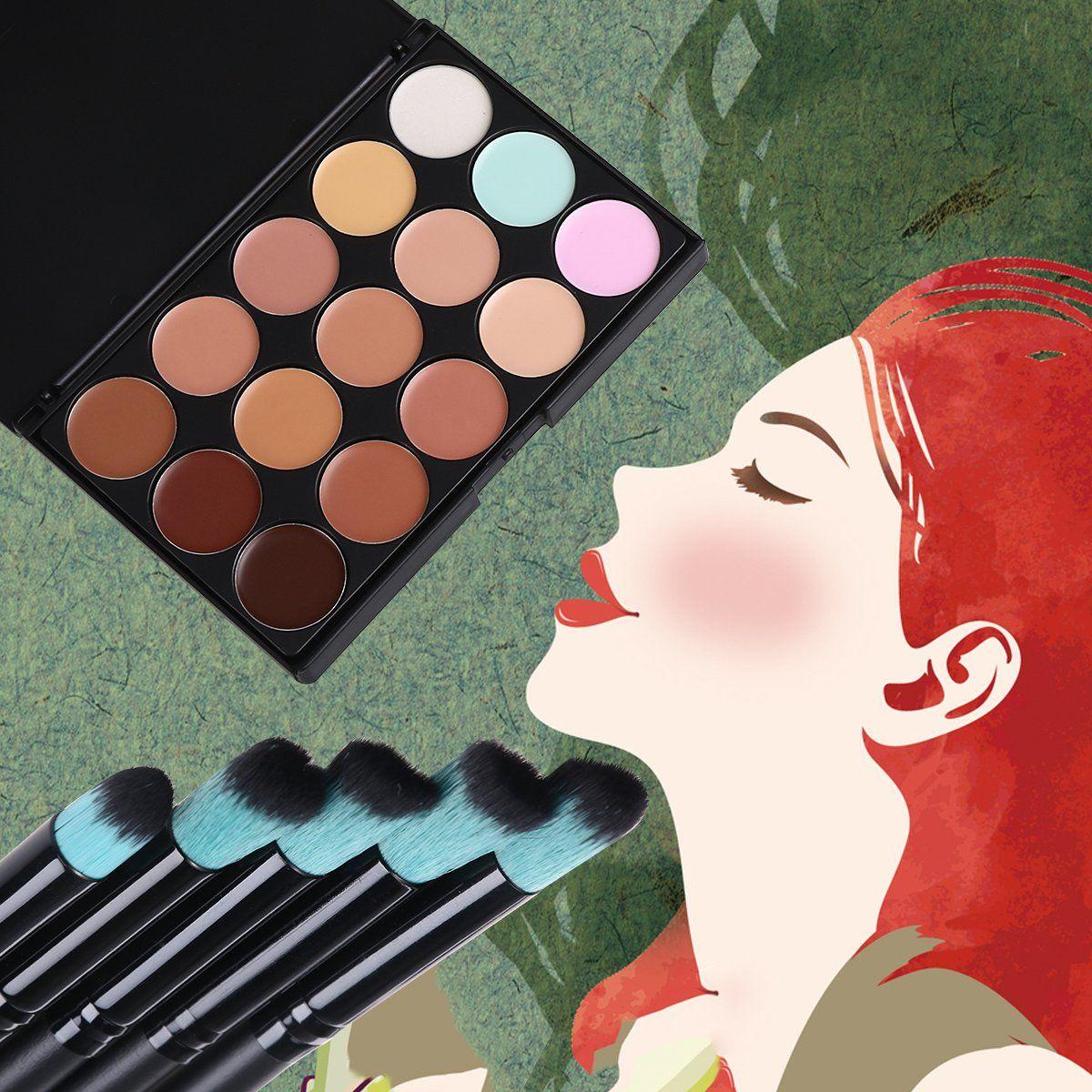 Tinksky Contour Face Cream Makeup Palette with 10pcs
