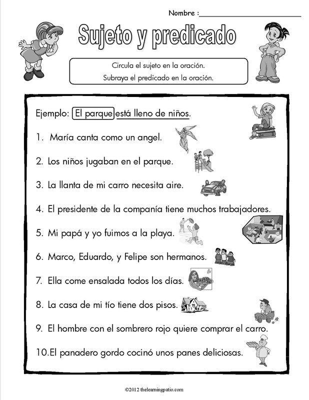6b08a6110e2ebcd500b97d80cf09f0b3--spanish-classroom-teaching-spanish.jpg  (618×800) | Sujeto y predicado, Oraciones sujeto y predicado, Educación  español