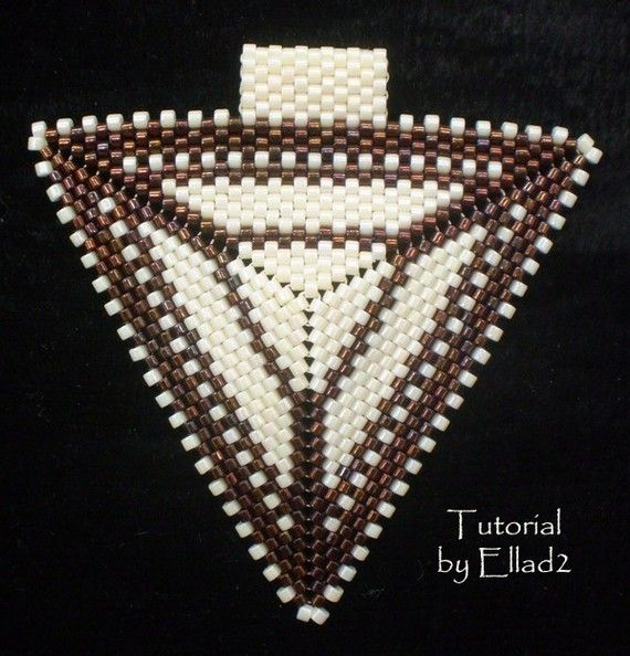 TUTORIAL Peyote Triangle Pendant by Ellad2 on Etsy, $4.00
