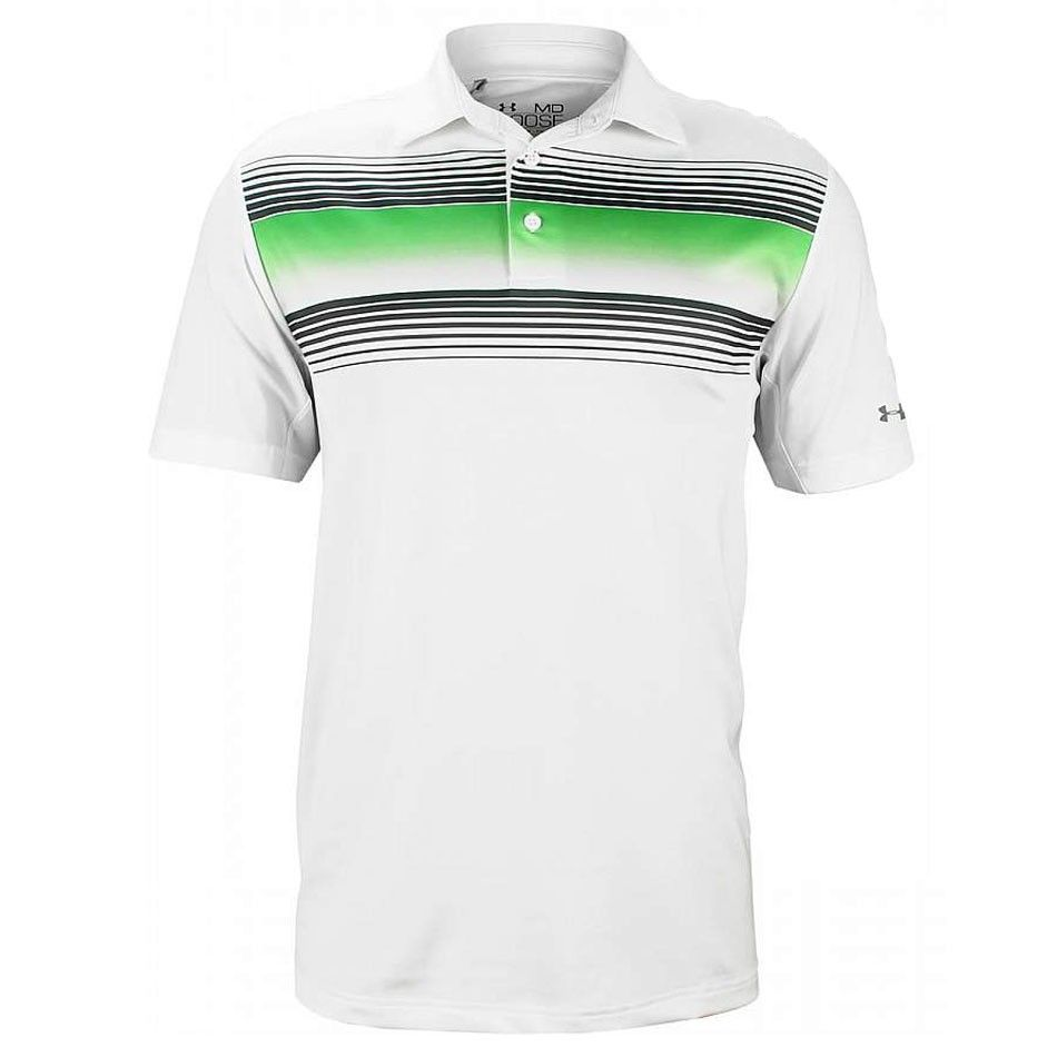 61f31e7a6 Under Armour Back 9 Chest Stripe Golf Polo | ropa | Mens golf outfit ...