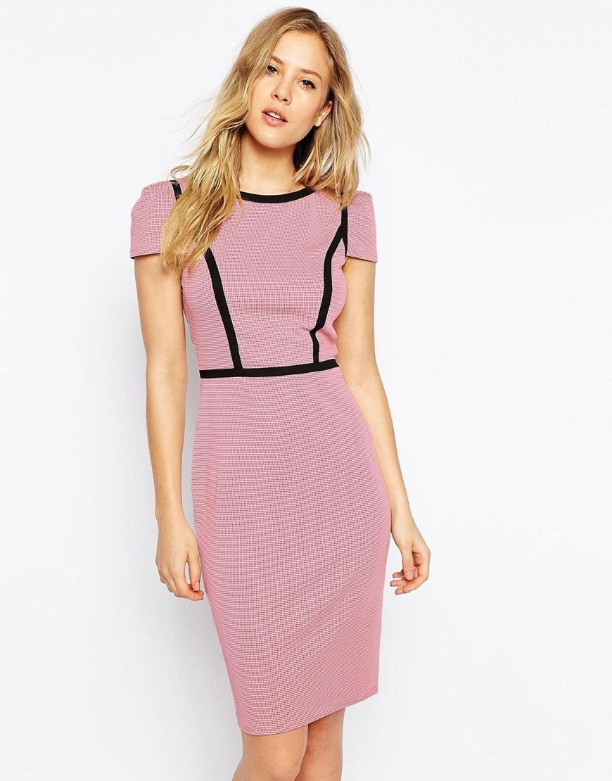 Paper Dolls Textured Pencil Dress With Panelling | ropa | Pinterest ...