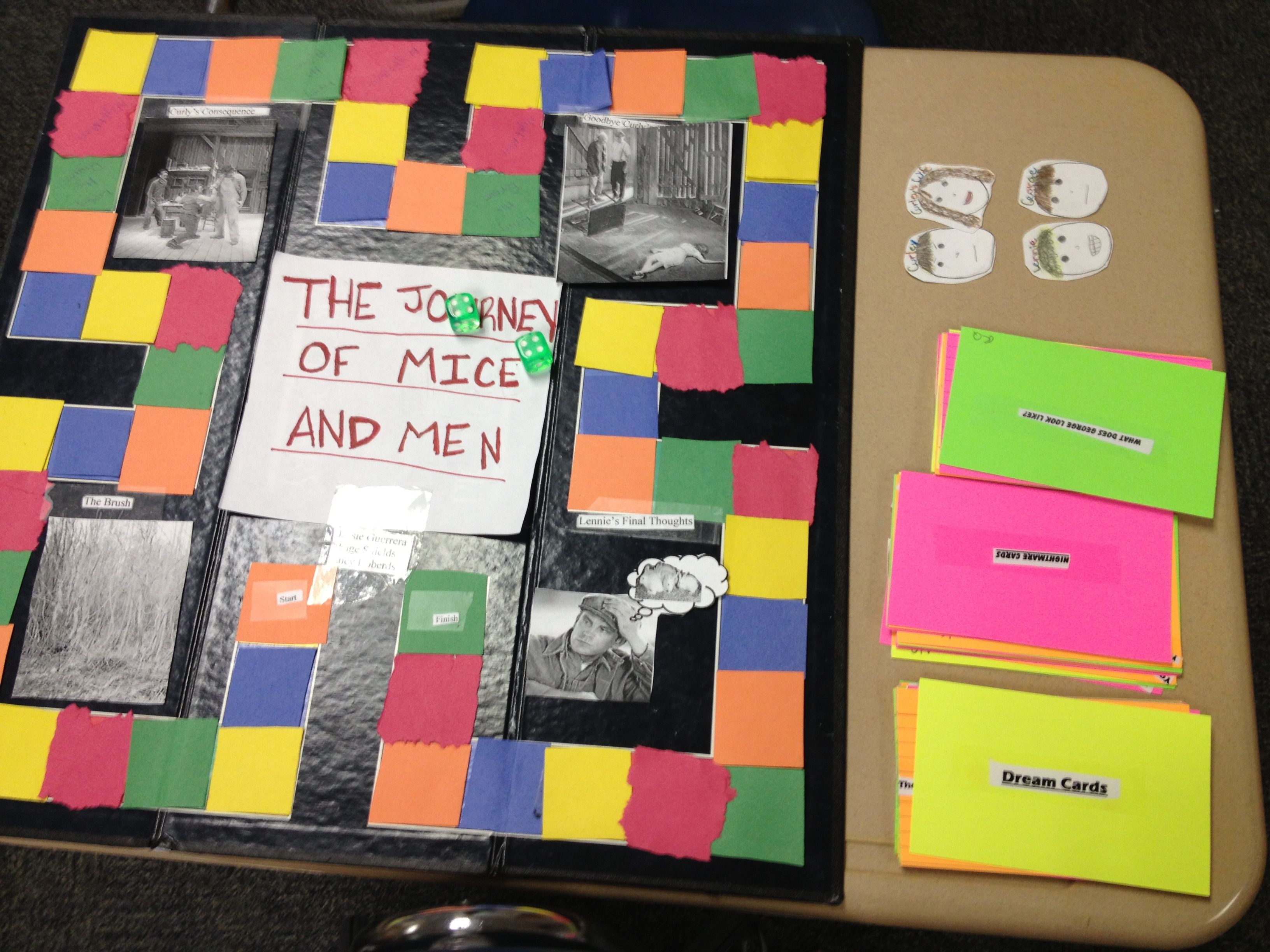 of mice and men john steinbeck character analysis tri folds enf of year board game project