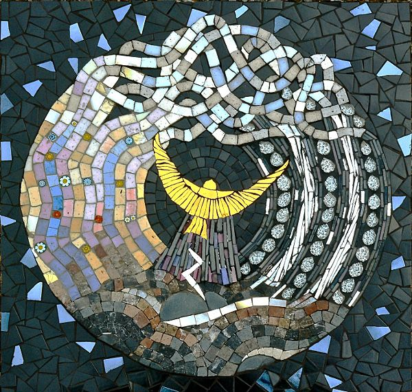 the four winds Mosaic art, Mosaic animals, Mosaic