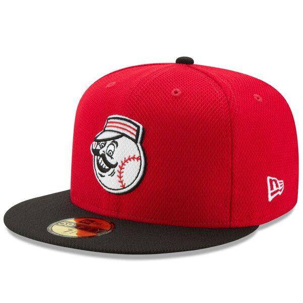 Cincinnati Reds New Era Diamond Era 59fifty Fitted Hat Red Black Cincinnatireds Fitted Hats Red Diamond Cincinnati Reds