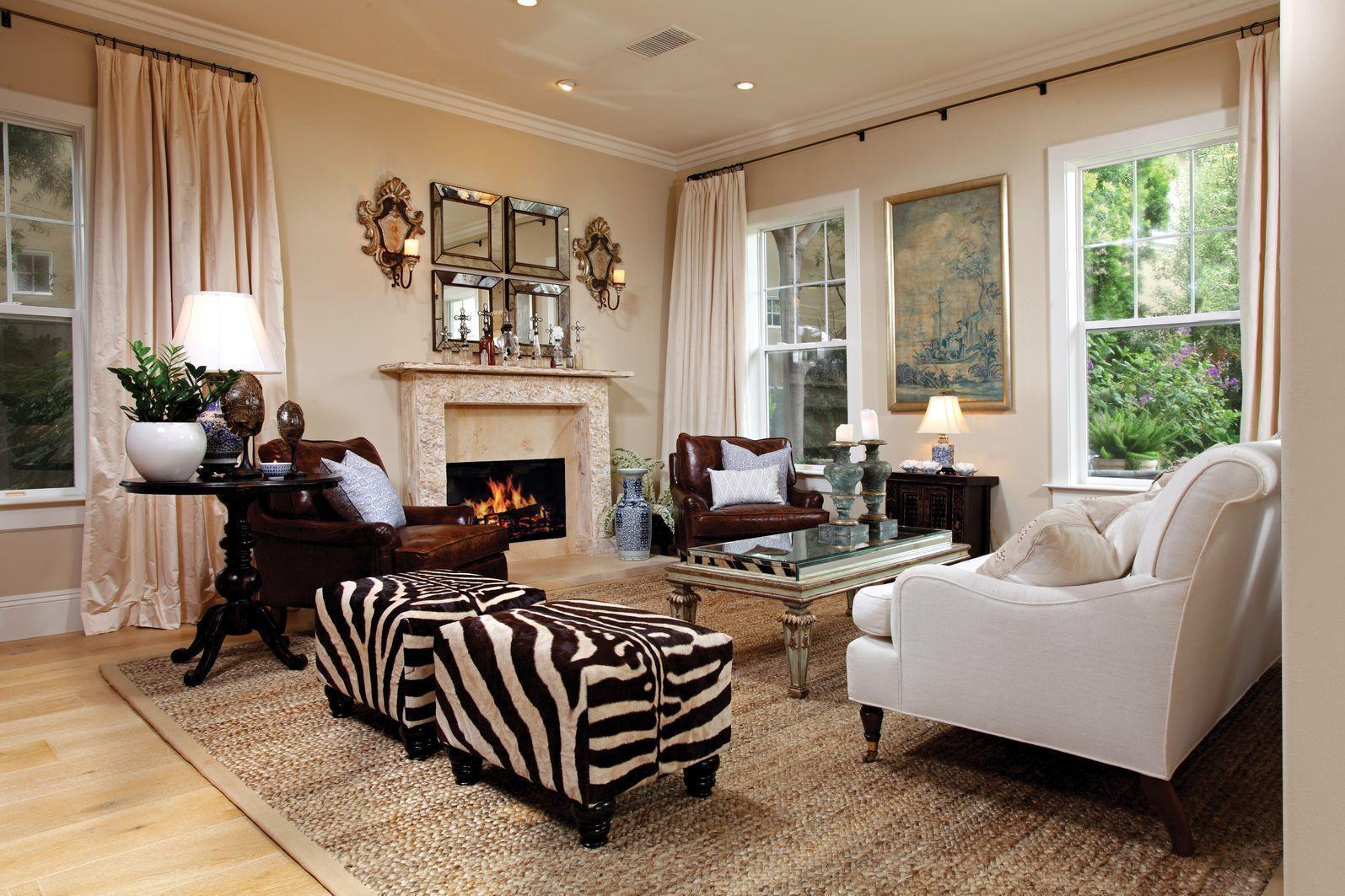 Graceful Living Room Zebra Druck Möbel Inspiration, Ideen #Badezimmer  #Büromöbel #Couchtisch #