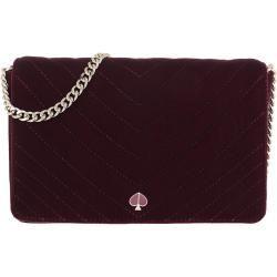 Kate Spade New York Amelia Velvet Chain Wallet Cherrywood in red shoulder bag for women Kate Spade