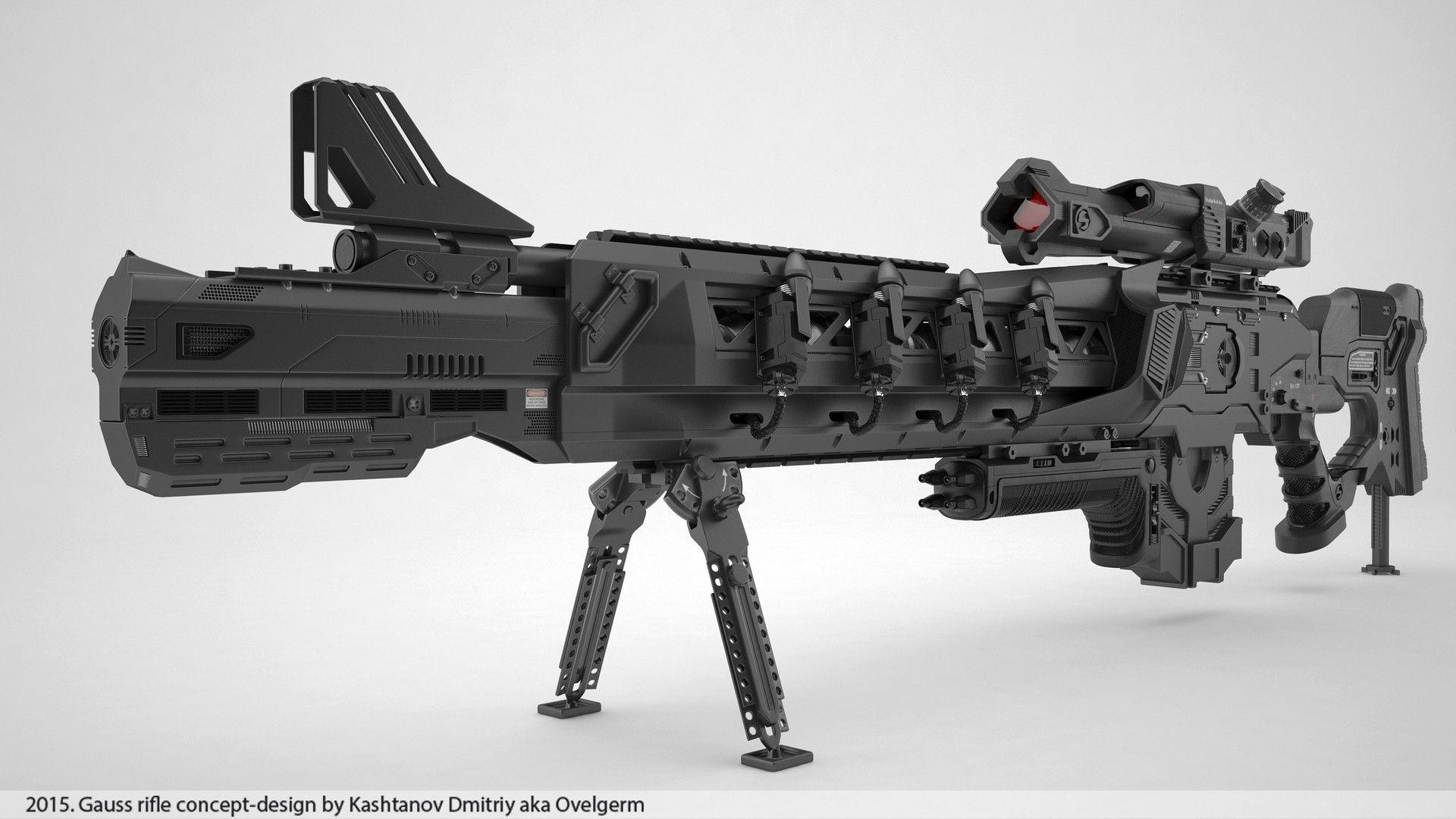 artstation gauss rifle conceptdesign dmitriy kashtanov