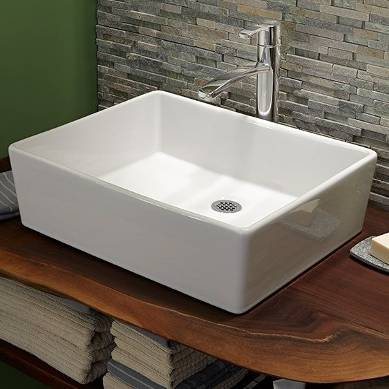 Loft Rectangular Vessel Bathroom Sink in 2018 finished basement