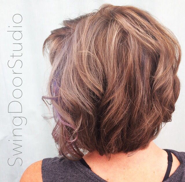 Women S Short Hair Pop Color High And Low Lights