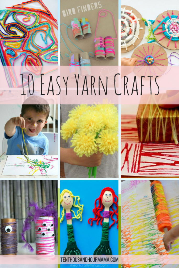 10 easy yarn projects for kids: Friday Funday roundup
