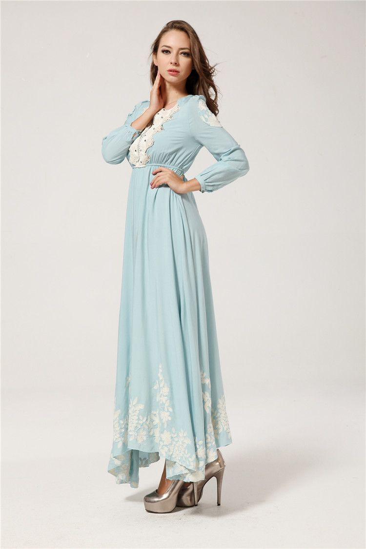 maxi-dress-with-sleeve | Awesome Long Maxi Dresses Designs ...