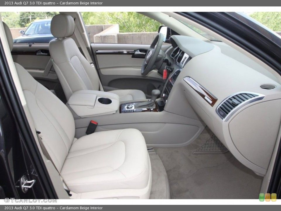 Cardamom Beige Interior Front Seat for the 2013 Audi Q7 3.0 TDI ...