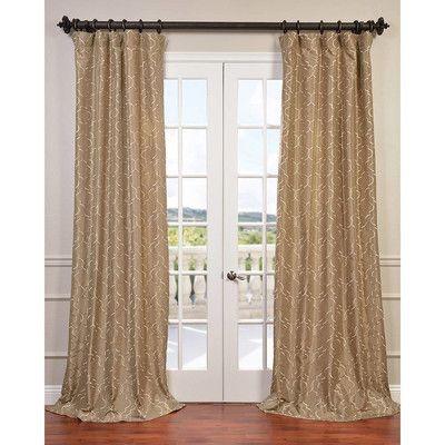 Half Price Drapes Algeirs Single Curtain Panel Curtains Half Price Drapes Silk Curtains