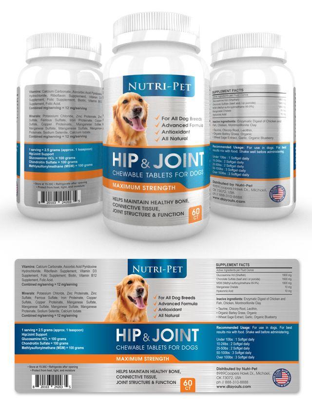 Pet Hip  Joint Supplement Label Template HttpWwwDlayoutsCom