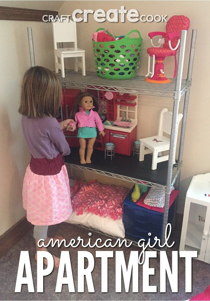 DIY American Girl Doll Apartment #americangirldollcrafts