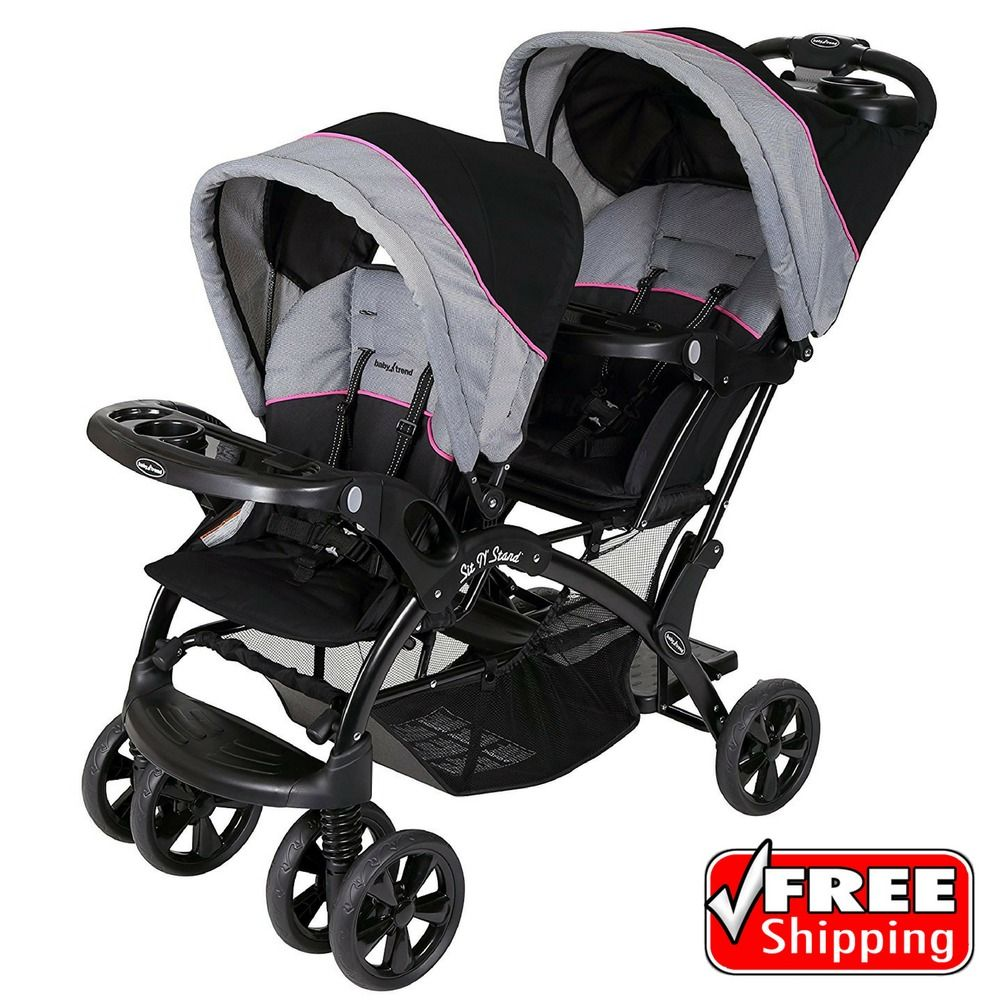 Details about Baby Trend Sit N Stand Double Stroller