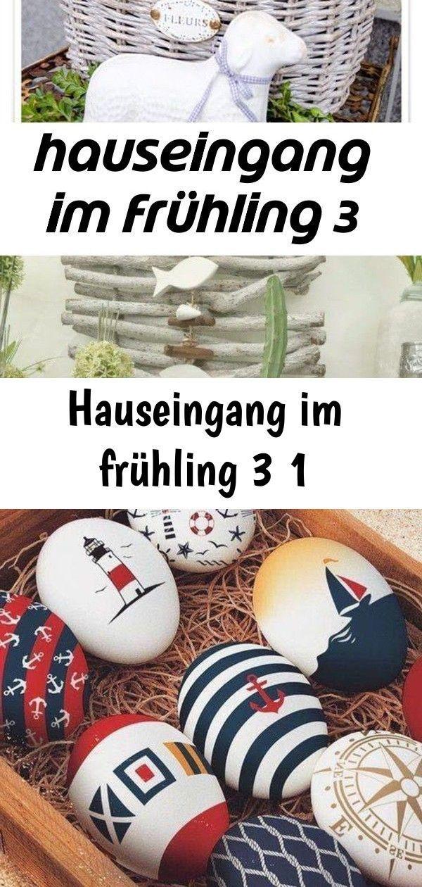 Photo of Hauseingang im frühling 3 1,  #Dekohauseingangmaritim #frühling #hauseingang