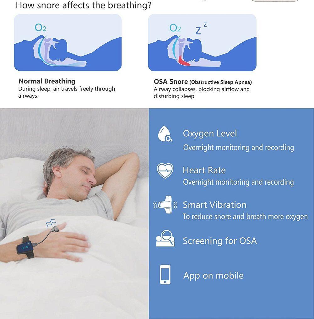 Sleep Monitor Anti Snoring Sleep Aid Watch Monitor Heart